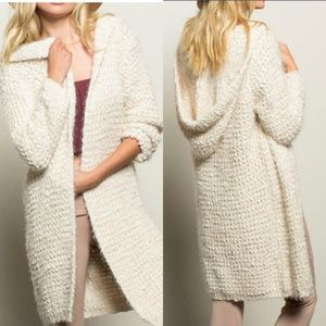 POL Hooded Long Cardigan Sweater